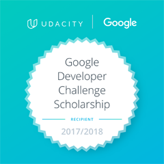 Udacity und Google Webdevelopper Scholarship Badge